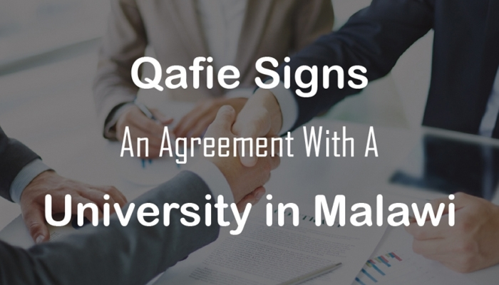 Qafie Signs An Agreement With A Leading University In Malawi